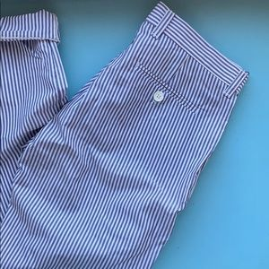 Navy pinstripe American Apparel Pants